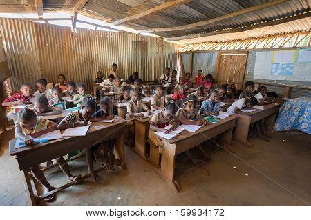 Malagasy School Children In Classroom