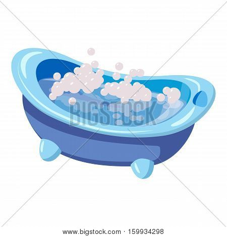 Bath for baby icon. Cartoon illustration of bath for baby vector icon for web