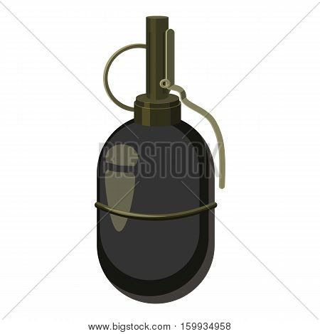 Grenade icon. Cartoon illustration of grenade vector icon for web