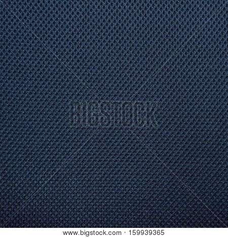 Dark blue fishnet cloth material texture background. Nylon texture. Nylon fabric. Nylon bag for background with copy space for text or image.