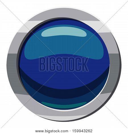 Blue button icon. Cartoon illustration of blue button vector icon for web