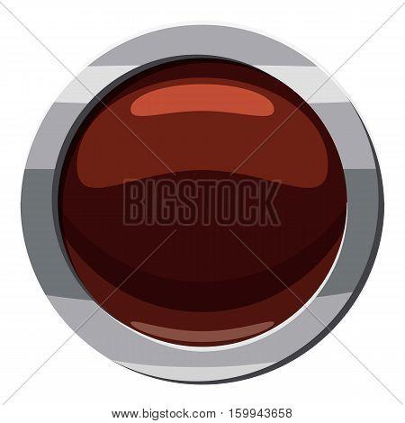 Round button click icon. Cartoon illustration of round button click vector icon for web
