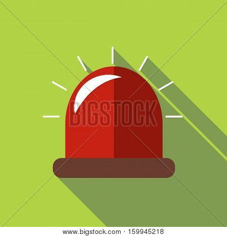 Siren icon. Flat illustration of siren vector icon for web