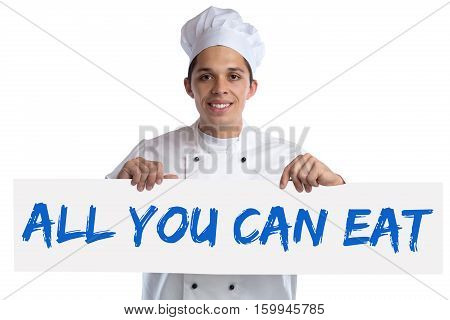 All You Can Eat Buffet Eating Lunch Dinner Restaurant Food Cook Cooking Isolated