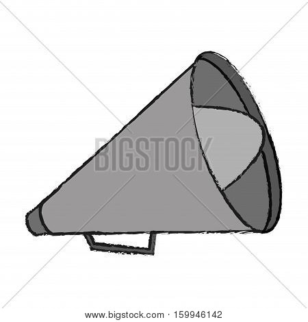 Megaphone icon. Amplifer speaker bullhorn and announce theme. Isolated design. Vector illustration