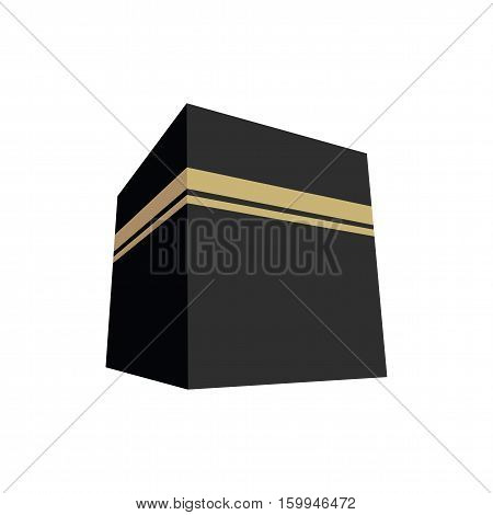 Kaaba In Mecca Vector Illustration Flat Design Icon
