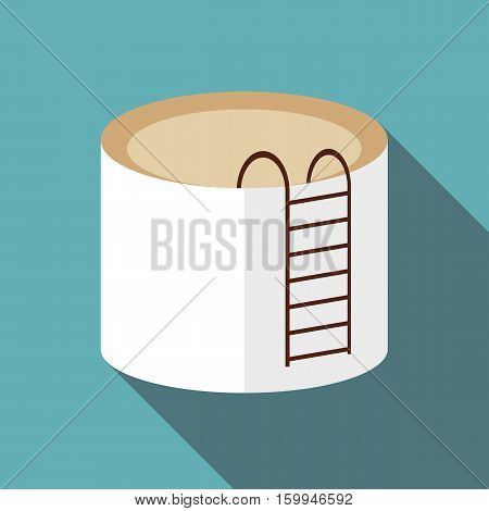 Tank liquid storage icon. Flat illustration of tank liquid storage vector icon for web