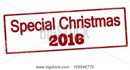 Stamp with text special Christmas inside vector illustration