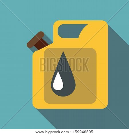Canister for gasoline icon. Flat illustration of canister for gasoline vector icon for web