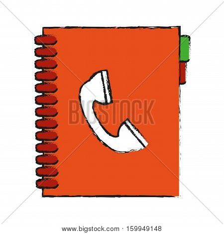 Agend icon. Notebook book directory and information theme. Isolated design. Vector illustration