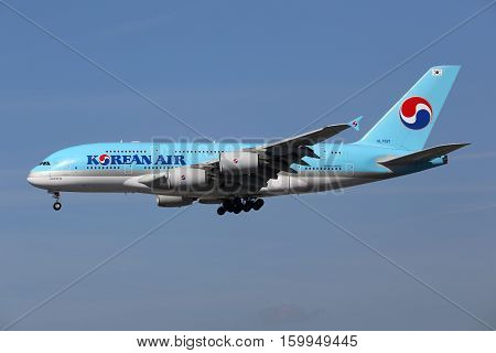 Korean Air Airbus A380 Airplane