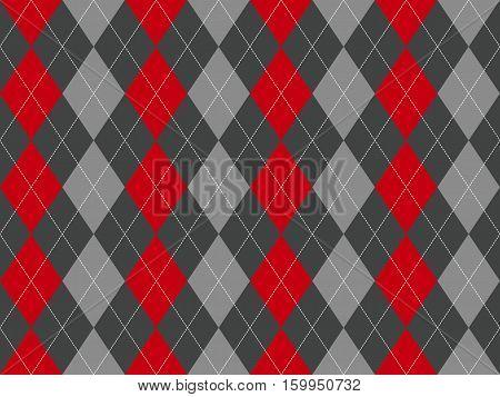 Gray argyle seamless pattern. Flat design. Vector illustration.