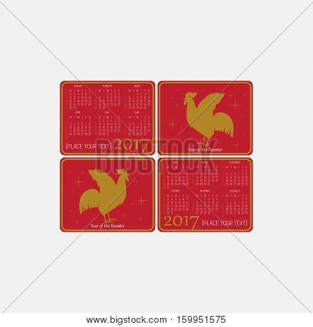 Calendar Chines New Year, This design is suitable for a brochure or poster