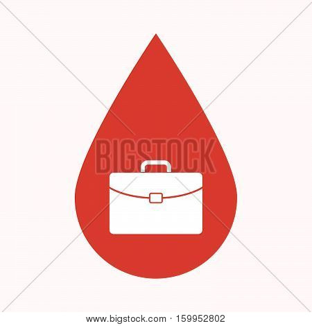 Isolated Blood Drop With  A Briefcase