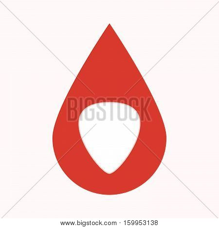 Isolated Blood Drop With A Plectrum
