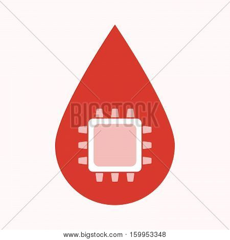 Isolated Blood Drop With A Cpu