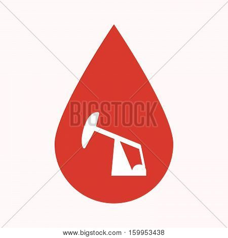 Isolated Blood Drop With A Horsehead Pump