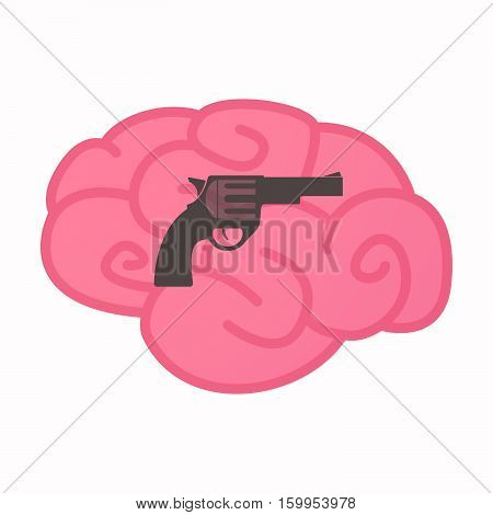 Isolated Brain With A Gun