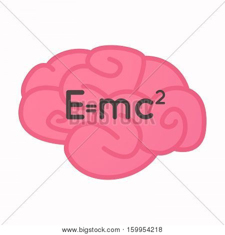 Isolated Brain With The Theory Of Relativity Formula