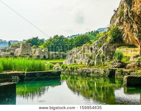 Hdr Ruins Of Villa Tiberio In Sperlonga