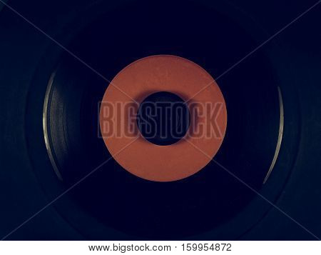 Vintage Looking Vinyl On A Phonograph Rubber Platter Mat