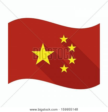 Isolated China Flag With  The Five Stars China Flag Symbol