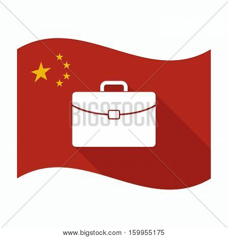 Isolated China Flag With  A Briefcase