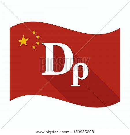 Isolated China Flag With A Drachma Currency Sign