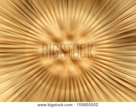 Rowel lotus with background blur radial art