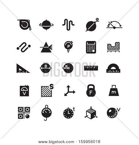 Measuring of dimension, weight, rialto, quantity, height, length vector icons. Measurement area and time illustration