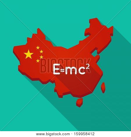Long Shadow China Map With The Theory Of Relativity Formula