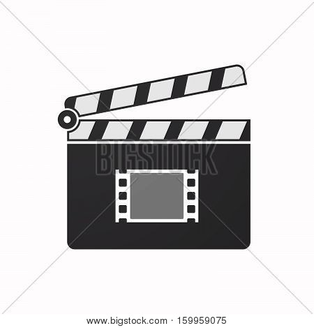 Isolated Clapper Board With A Film Photogram