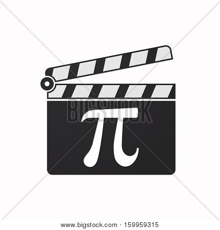 Isolated Clapper Board With The Number Pi Symbol