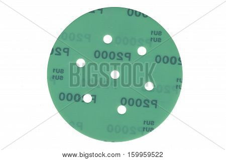Velcro grinding sanding disc isolated on white. poster