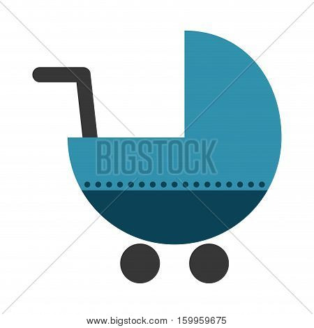 baby cart icon over white background. colorful design. vector illustration