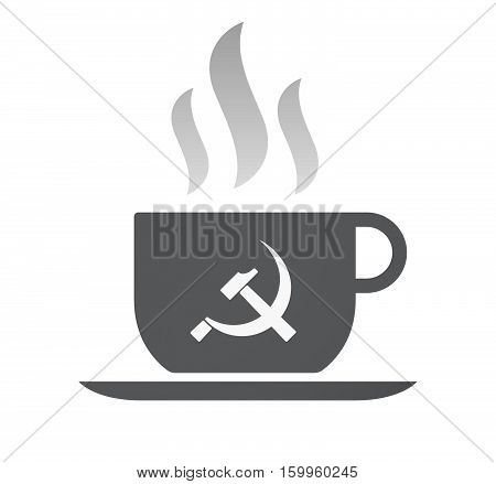 Isolated Coffee Cup With  The Communist Symbol