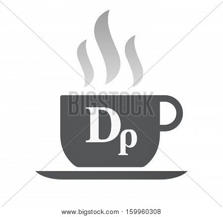 Isolated Coffee Cup With A Drachma Currency Sign