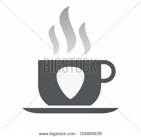 Isolated Coffee Cup With A Plectrum