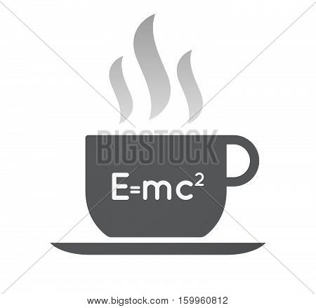 Isolated Coffee Cup With The Theory Of Relativity Formula