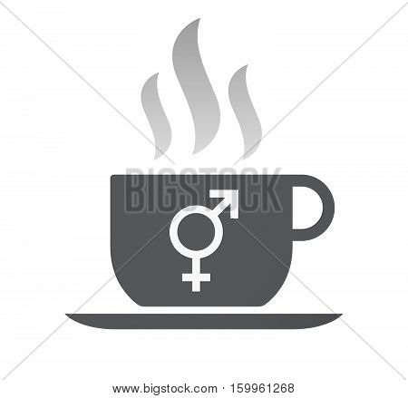 Isolated Coffee Cup With A Bigender Symbol