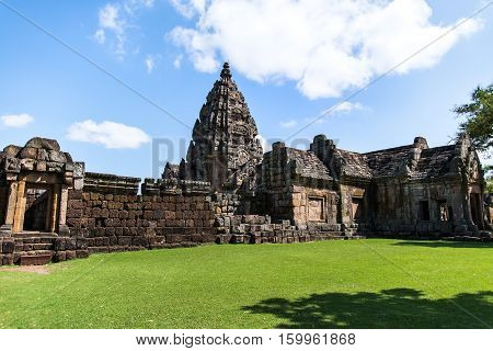 Prasat Hin Phanom Rung Hindu religious ruin located in Buri Ram Province Thailand built around the 10th-12th century and used as a religious shrine in