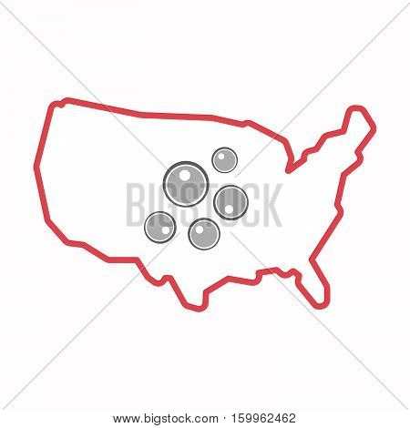 Isolated Map Of Usa With Oocytes