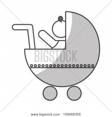 baby cart icon over white background. vector illustration