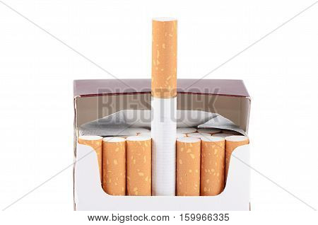 Box Of Cigarettes Isolated On A White Background