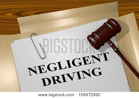 Negligent Driving - Legal Concept