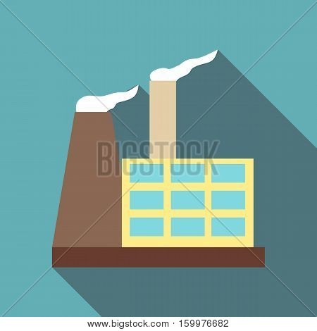 Chemical warehouse icon. Flat illustration of chemical warehouse vector icon for web
