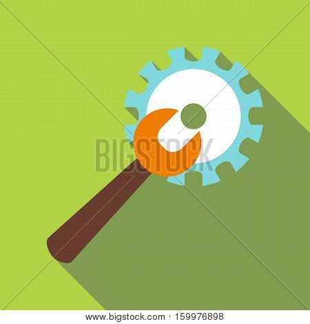 Adjustable wrench icon. Flat illustration of adjustable wrench vector icon for web