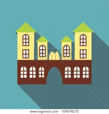 Ancient palace icon. Flat illustration of ancient palace vector icon for web