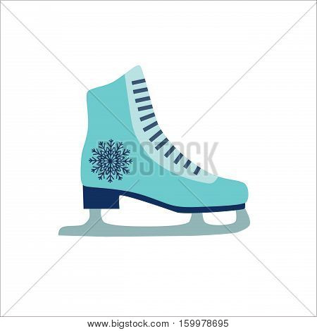 Colorful skate vector icon isolated on wight background. Illustration of winter skate icon
