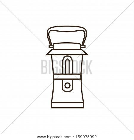 Camping lamp icon isalated on wight background. Outline style vector icon of camping lamp.